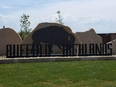 Buffalo Highlands sign